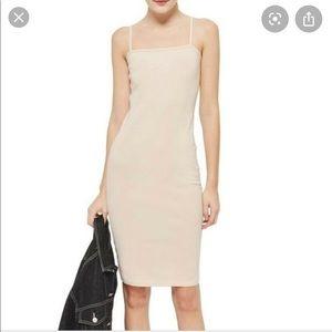 NEW TopShop Square Neck Cami Bodycon Midi Dress